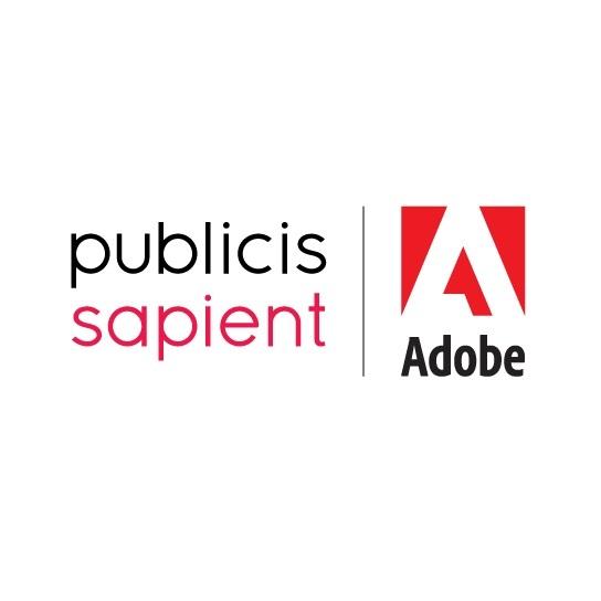 Women Leading Tech Awards Partners and sponsors - - publicis sapient | adobe logo
